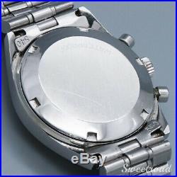 Vintage 1969 OMEGA DE VILLE Chronograph SS Hand Winding Wristwatch Rare