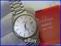 Vintage 1970's Ss Omega Seamaster Quartz Cal 1342 Rare Sparkle Dial 6842