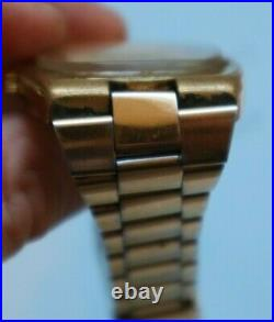 Vintage 1973 Omega Automatic Geneve calibre 1012 gold plated wrist watch rare