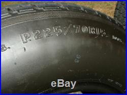 Vintage Goodyear Eagle GT II 11 225 70 15 Radial Tire Mag wheel Camaro Nova GTO
