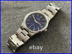Vintage OMEGA 166.0173 Automatic Date S/STEEL BLUE DIAL Cal 1012 RARE
