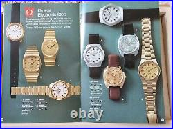 Vintage OMEGA 1975 Collection Watch Catalogue Very Rare & Highly Collectable