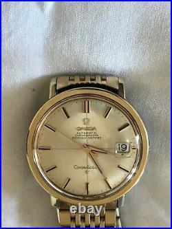 Vintage OMEGA Constellation Cross-hair dial 36mm case- Rare+Mint