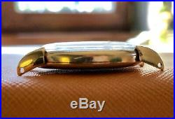 Vintage OMEGA men's watch solid 18K yellow gold, turtle lugs RARE