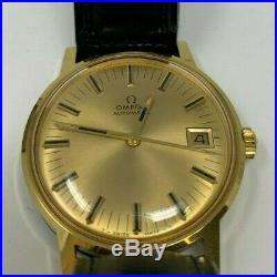 Vintage Omega 563 Date Automatic Men's Watch 10k Gf Runs Great Rare Box & Papers