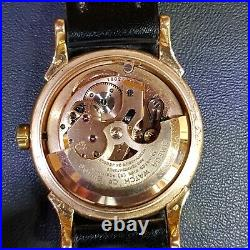 Vintage Omega A Fine And Rare Constellations Deluxe Solid Pink 18k Gold And Dial