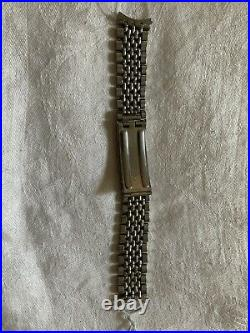 Vintage Omega Beads Of Rice Bracelet S Steel No 12 With Lugs Rare Oval Links