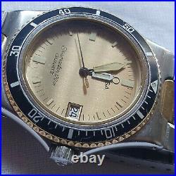 Vintage Omega CALYPSO Seamaster 120m Quartz Men's Watch Rare to Find