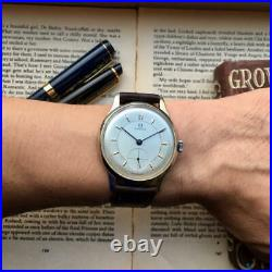 Vintage Omega CAL 30T2 White Dial Men's Watch RARE JAPAN
