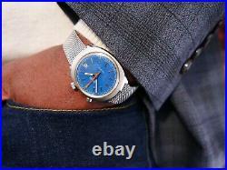 Vintage Omega Chronostop Driver Rare Blue Dial Men's Wrist Watch 1969