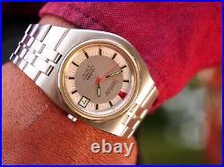 Vintage Omega Constellation F300 Rare D Shaped Case Men's Wrist Watch 1970