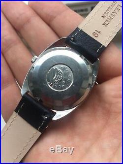 Vintage Omega Constellation Rare Linen Dial Datedate 18k Gold Bezel Watch