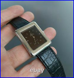Vintage Omega De Ville Pave d'Or 1976 Automatic Watch Rare Steel and Gold