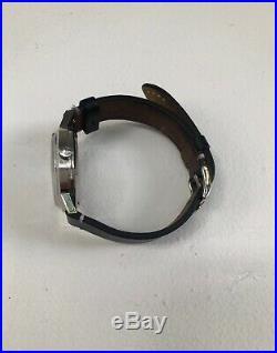 Vintage Omega Geneve Automatic Blue Dial Date Dress Men's Watch Rare