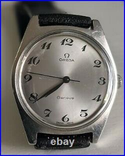 Vintage Omega Geneve Rare Breguet Numerals