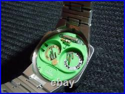 Vintage Omega LED Digital Watch Rare One Button Stainless Steel TC-1