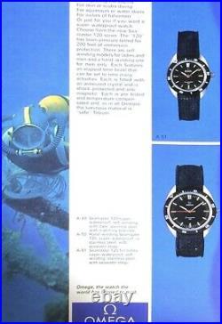 Vintage Omega Seamaster 120 Ref. 136.027 Manual cal. Rare Orange Hand'Ultraboy