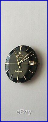 Vintage Omega Seamaster 14k Gold Bezel Automatic Date Cal. 562 BLACK DIAL RARE