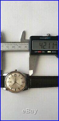 Vintage Omega Seamaster Automatic Cal. 503 Date 20 Jewels Rare Pie Pan Dial Stee