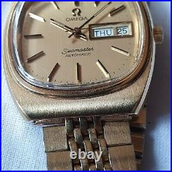 Vintage Omega Seamaster Cal. 1020 Day/Date Men's Watch TV Dial RARE & NOS