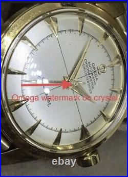 Vintage Omega Seamaster Chronometer 18K Solid Gold With Rare Orig Box Beads Rice