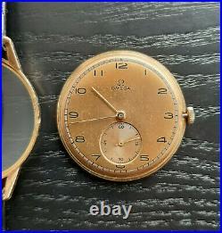 Vintage Oversize 14K Gold Omega 1940 All Original Rare Watch MINT
