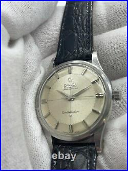 Vintage Rare 1962 Omega Pie Pan Constellation Automatic Watch Cal 551 Stainless