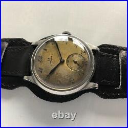 Vintage Rare 37.5mm Omega Calatrava Jumbo Ck859 Cal. 26.5 Sob Breguet chronograph