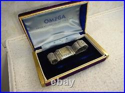 Vintage Rare OMEGA MARINE 1930s 1st Diver's Swiss watch Forstner Komfit Band