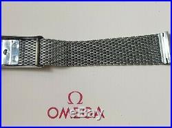 Vintage & Rare Omega 18mm Chronostop Stainless Steel Mesh Bracelet No. 1120/116