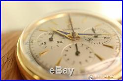 Vintage Rare Omega 2439 Chronograph 14K Gold 1949/50 Cal 321 Box Pre SpeedMaster
