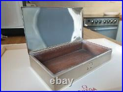 Vintage & Rare Omega Century 925 Sterling Silver Watch Box STUNNING CONDITION