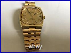 Vintage Rare Omega F300 HZ Electronic Geneva Chronometer Watch