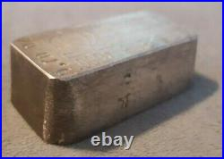 Vintage Rare Omega Refining 9.70 oz. 999 Fine Silver Bar Collectable Old