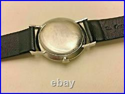 Vintage Thin Stainless Steel Omega Tissot Manual Wind Watch RARE