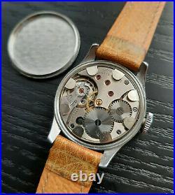 Vintage WWII era Swedish Army Military Omega 1940s Steel Watch Rare Arctic