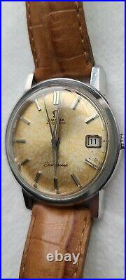 Vintage s/s omega seamaster automatic date running watch rare ref. 166.003